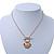 Gold Tone Multi Heart Charm Pendant With 34cm L/ 7cm Ext Chain - view 4