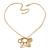 Gold Tone Multi Heart Charm Pendant With 34cm L/ 7cm Ext Chain - view 3