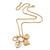 Gold Tone Multi Heart Charm Pendant With 34cm L/ 7cm Ext Chain - view 2