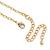 Gold Tone Multi Heart Charm Pendant With 34cm L/ 7cm Ext Chain - view 5