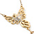 Crystal, Simulated Pearl Bead Dove Bird Pendant With Gold Tone Chain - 36cm L/ 8cm Ext - view 4