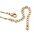 Crystal, Simulated Pearl Bead Dove Bird Pendant With Gold Tone Chain - 36cm L/ 8cm Ext - view 6