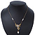 Crystal, Simulated Pearl Bead Dove Bird Pendant With Gold Tone Chain - 36cm L/ 8cm Ext - view 9