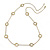 Vintage Inspired Cut Out Heart Long Necklace In Gold Tone Metal - 88cm L - view 3