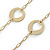 Vintage Inspired Cut Out Heart Long Necklace In Gold Tone Metal - 88cm L - view 4
