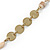 Vintage Inspired Dusty Pink, Nude Glass Bead and Antique Gold Coin Long Necklace - 100cm L - view 6