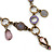 Victorian Style Crystal, Acrylic, Enamel Bead Charm Necklace In Bronze Tone (Pink, Violet) - 40cm Length/ 7cm Extension - view 2