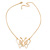 Gold Plated Open Butterfly Pendant With 36cm L/ 6cm Ext Chain - view 4