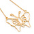 Gold Plated Open Butterfly Pendant With 36cm L/ 6cm Ext Chain - view 6