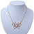 Gold Plated Open Butterfly Pendant With 36cm L/ 6cm Ext Chain - view 7