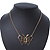 Gold Plated Open Butterfly Pendant With 36cm L/ 6cm Ext Chain - view 3