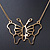 Gold Plated Open Butterfly Pendant With 36cm L/ 6cm Ext Chain - view 2
