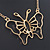 Gold Plated Open Butterfly Pendant With 36cm L/ 6cm Ext Chain - view 8