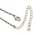 Vintage Inspired Light Blue, Olive Bead, Chain Charm Necklace In Pewter Tone - 32cm L/ 6cm Ext - view 6