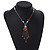 Gold Tone Glass Beaded Tassel with Chain Necklace - 40cm L/ 5cm Ext/ 9cm Tassel - view 8