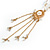 Gold Tone Glass Beaded Tassel with Chain Necklace - 40cm L/ 5cm Ext/ 9cm Tassel - view 10