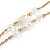 Gold Tone Glass Beaded Tassel with Chain Necklace - 40cm L/ 5cm Ext/ 9cm Tassel - view 5