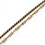 Vintage Inspired Faux Pearl Double Chain Long Necklace In Bronze Tone - 102cm L/ 7cm Ext - view 4