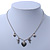 Romantic Hearts & Angels Charm Necklace In Silver Tone - 40cm Length/ 6cm Extension - view 4