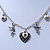 Romantic Hearts & Angels Charm Necklace In Silver Tone - 40cm Length/ 6cm Extension - view 7