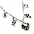 Romantic Hearts & Angels Charm Necklace In Silver Tone - 40cm Length/ 6cm Extension - view 2