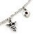 Romantic Hearts & Angels Charm Necklace In Silver Tone - 40cm Length/ 6cm Extension - view 3
