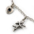 Romantic Hearts & Angels Charm Necklace In Silver Tone - 40cm Length/ 6cm Extension - view 5