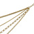 Gold Tone Multi Chain with Red Charm Bead Necklace - 52cm L - view 7