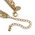 Gold Tone Multi Chain with Red Charm Bead Necklace - 52cm L - view 5