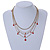 Gold Tone Multi Chain with Red Charm Bead Necklace - 52cm L - view 3