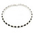 Silver Plated Clear/ Black Austrian Flex Choker Necklace