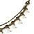 Vintage Inspired Caramel/ Green Enamel Floral Pendant with Bronze Tone Chain Necklace - 40cm L/ 8cm Ext/ 8cm Front Drop - view 4