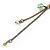 Vintage Inspired Caramel/ Green Enamel Floral Pendant with Bronze Tone Chain Necklace - 40cm L/ 8cm Ext/ 8cm Front Drop - view 8