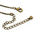 Vintage Inspired Caramel/ Green Enamel Floral Pendant with Bronze Tone Chain Necklace - 40cm L/ 8cm Ext/ 8cm Front Drop - view 7