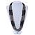Multistrand Metallic Grey/ Black Glass Bead Necklace - 70cm L - view 2