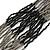 Multistrand Metallic Grey/ Black Glass Bead Necklace - 70cm L - view 4