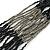 Multistrand Metallic Grey/ Black Glass Bead Necklace - 70cm L - view 5
