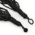 Multistrand Metallic Grey/ Black Glass Bead Necklace - 70cm L - view 6