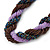 Pink, Cappuccino, Peacock Glass Bead Rope Style Choker Necklace - 36cm L - view 4