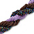 Pink, Cappuccino, Peacock Glass Bead Rope Style Choker Necklace - 36cm L - view 5