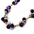 Black Ceramic, Magenta Shell Cluster Bead Necklace In Silver Tone - 46cm L/ 4cm Ext - view 7