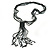Black, Grey Glass Bead Tassel Necklace - 64cm L/ Tassel - 15cm L - view 6