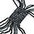 Black, Grey Glass Bead Tassel Necklace - 64cm L/ Tassel - 15cm L - view 4