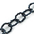 3 Strand Hematite Coloured Glass Bead Oval Link Necklace - 60cm Length - view 5