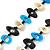 Black, Light Blue, White Bone Bead Necklace - 80cm L - view 4