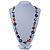 Long Multicoloured Shell Nugget & Wood Bead Necklace - 90cm L - view 2