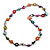 Long Multicoloured Shell Nugget & Wood Bead Necklace - 90cm L - view 3