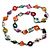 Long Multicoloured Shell Nugget & Wood Bead Necklace - 84cm L