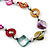 Long Multicoloured Shell Nugget & Wood Bead Necklace - 90cm L - view 5