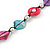 Long Multicoloured Shell Nugget & Wood Bead Necklace - 90cm L - view 6